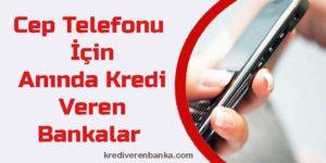 cep telefonu için kredi