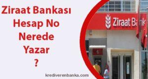 ziraat bankası hesap no nerede yazar