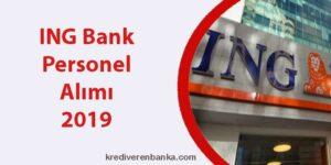 ing bank personel alımı 2019