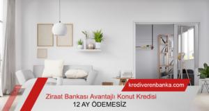 Ziraat Bankası 12 Ay Ödemesiz Avantajlı Konut Kredisi